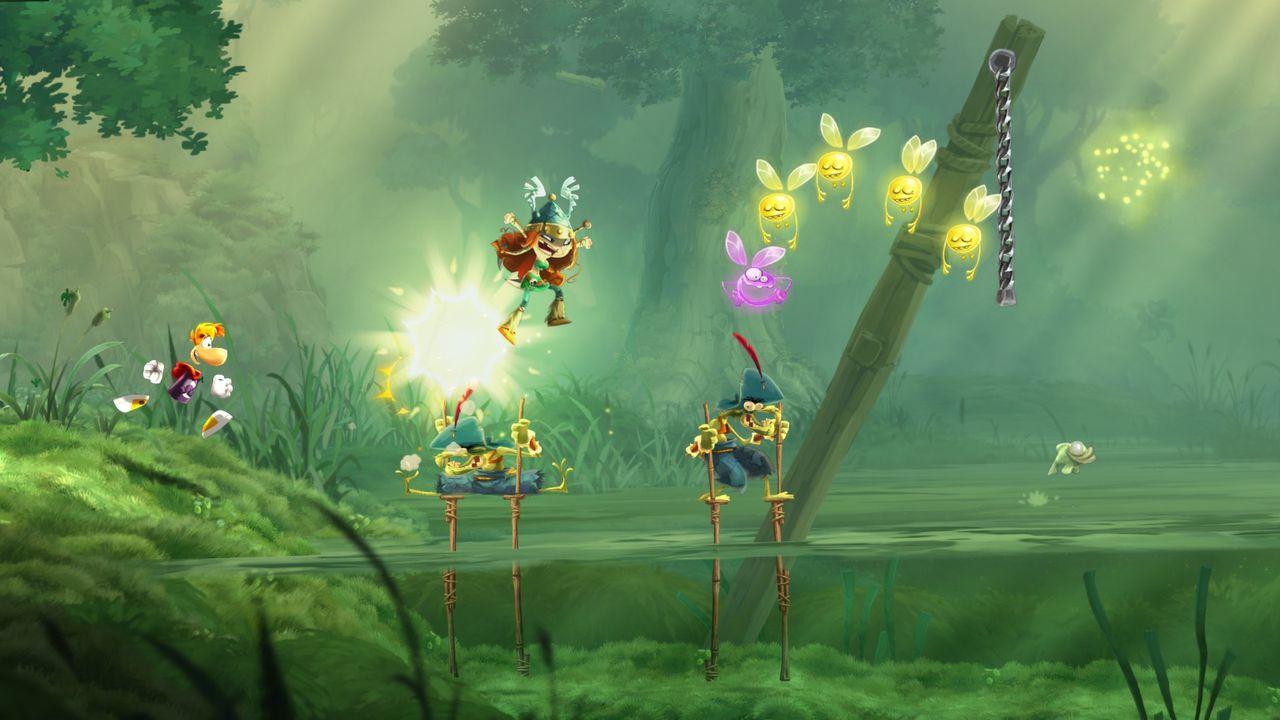 В компьютерной игре прыгает картинка